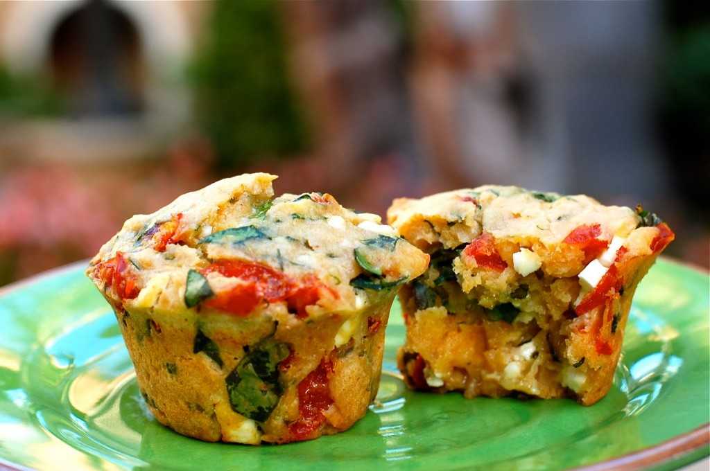 Savory Spinach, Feta, and Peppadew Muffins