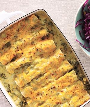 Creamy-Spinach-Enchiladas