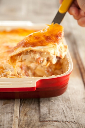 Mexican-Chicken-Casserole-with-Cheddar-Cheese-and-Tomatoes