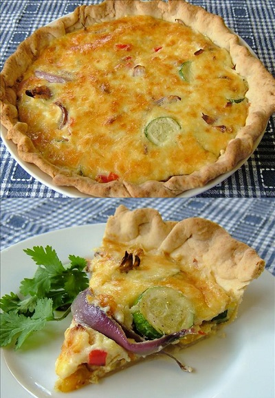 cheese quiche csmonitor com roasted vegetable cheddar quiche recipes ...