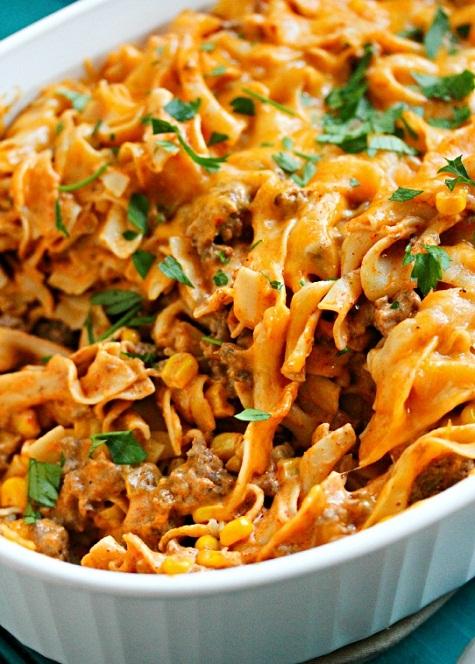 Enchilada-Pasta-Casserole-Recipe