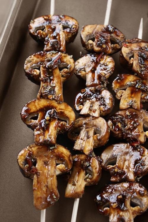 Mushroom-Skewers