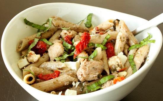 Pasta Recipes Easy With Chicken Pesto Pasta With Pesto Chicken