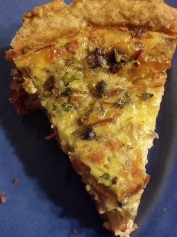 Savory-Ham-and-Mushroom-Quiche