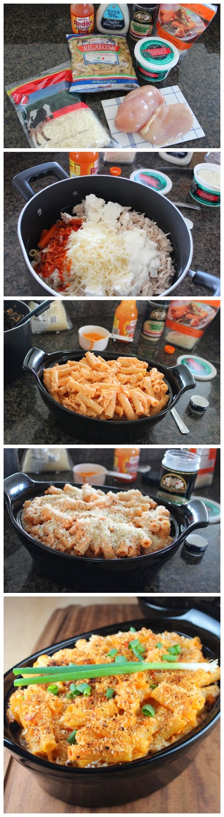 Buffalo-Chicken-Baked-Pasta