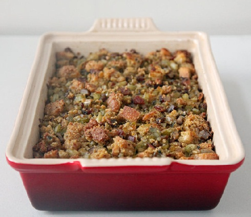 Roasted Chestnut Cornbread Stuffing | Quick & Easy Recipes