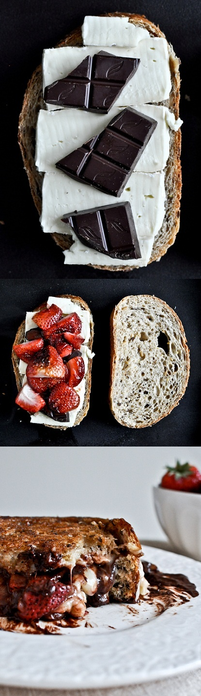 Roasted-Strawberry-Brie-Chocolate-Grilled-Cheese-Recipe