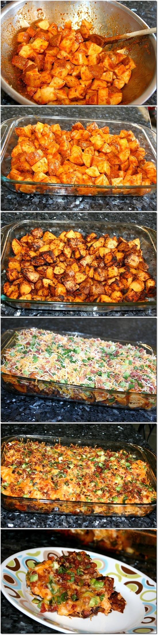 Loaded Potato & Buffalo Chicken Casserole Recipe | Quick ...