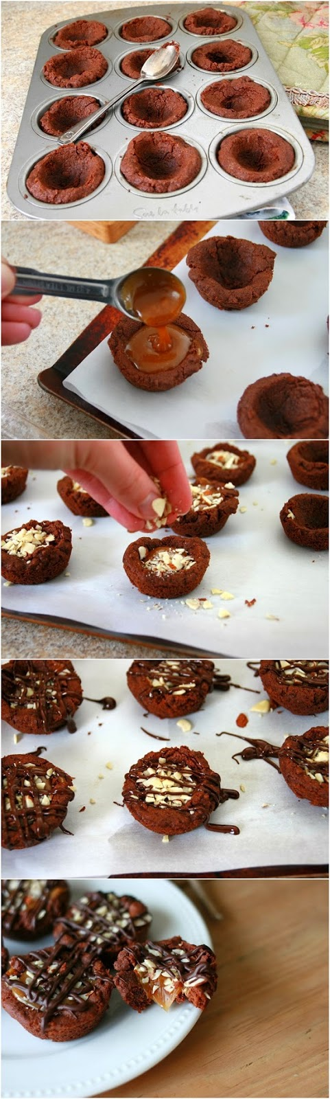 Salted-Caramel-Dark-Chocolate-Cookie-Cups-Recipe