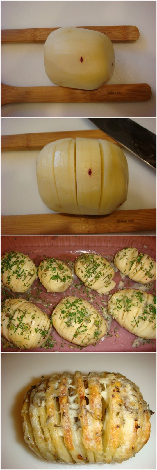 Sliced-Baked-Potatoes-with-Herbs-and-Cheese-Recipe