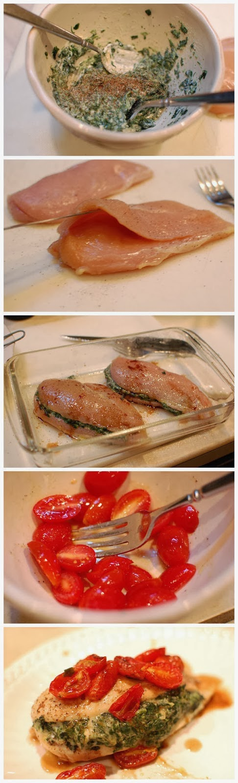 Spinach-Stuffed-Chicken-with-Blistered-Tomatoes-Recipe