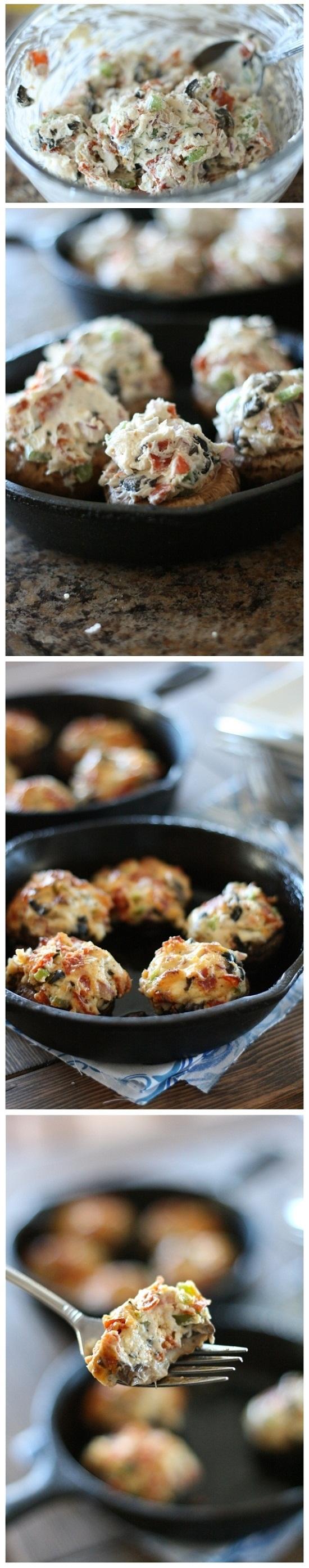 Pizza-Stuffed-Mushrooms-Recipe